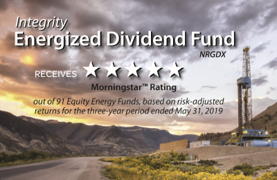 Integrity Energized Dividend Fund Receives 5-Star Morningstar Rating