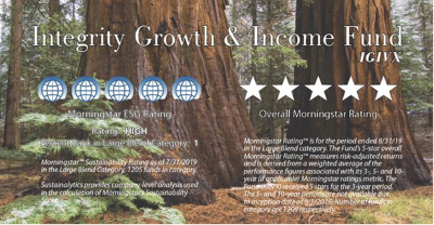 Integrity Growth and Income Fund Receives 5-Star Morningstar Rating